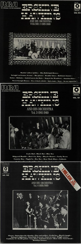 Erskine Hawkins Erskine Hawkins & His Orchestra 1938-48 Volumes 1 - 4 4-LP vinyl album set (4 records) UK EHI4LER641412