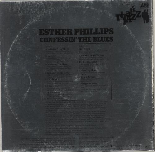 Esther Phillips Confessin' The Blues vinyl LP album (LP record) German EPILPCO748402