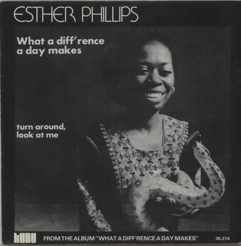"Esther Phillips What A Difference A Day Makes 7"" vinyl single (7 inch record) Belgian EPI07WH656829"