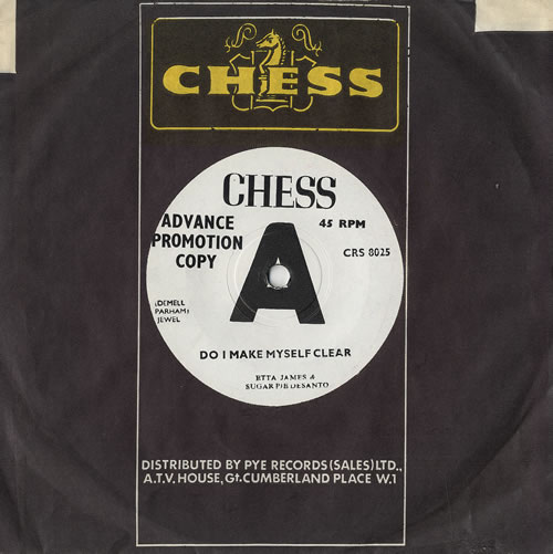"Etta James Do I Make Myself Clear 7"" vinyl single (7 inch record) UK ETT07DO479867"