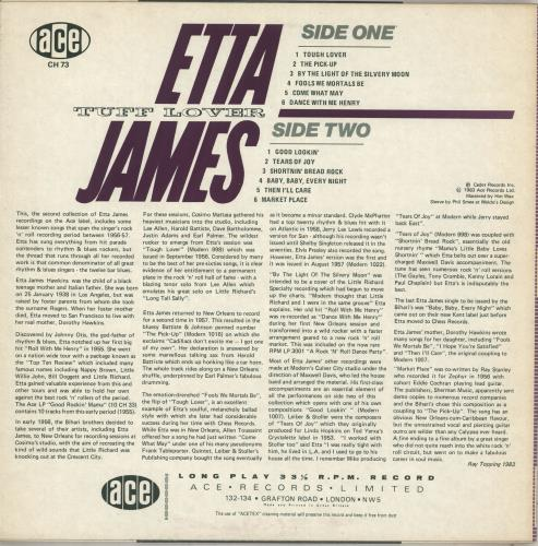 Etta James Tuff Lover vinyl LP album (LP record) UK ETTLPTU712331