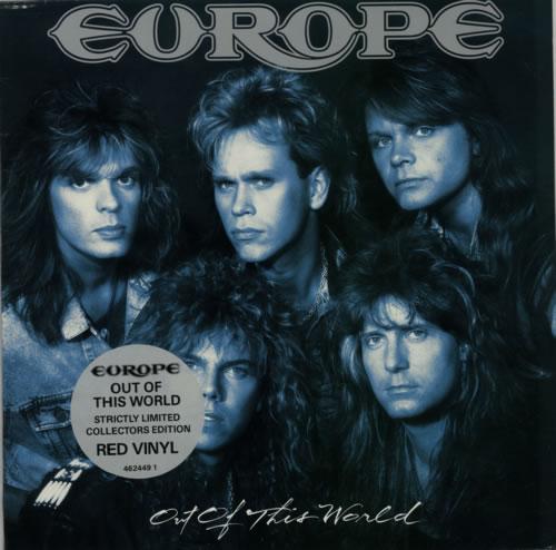 Europe Out Of This World - Red Vinyl vinyl LP album (LP record) UK ERPLPOU47934