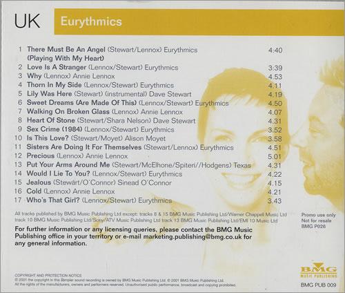 Eurythmics Eurythmics Annie Lennox Dave Stewart CD album (CDLP) UK EURCDEU214539