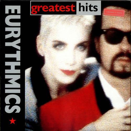 Eurythmics Greatest Hits - Stickered Sleeve vinyl LP album (LP record) German EURLPGR249564