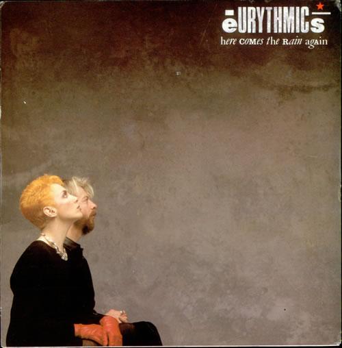 "Eurythmics Here Comes The Rain Again 7"" vinyl single (7 inch record) UK EUR07HE44706"