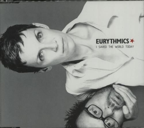 """Eurythmics I Saved The World Today CD single (CD5 / 5"""") UK EURC5IS143453"""