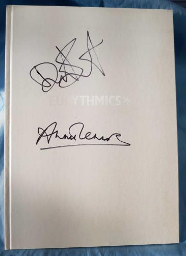 Eurythmics Peace - Autographed book UK EURBKPE711027