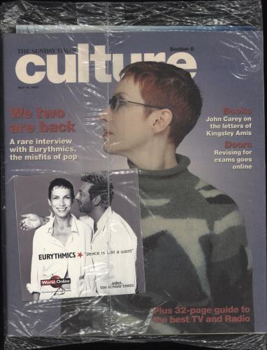 "Eurythmics Peace Is Just A Word - Sunday Times CD + mag CD single (CD5 / 5"") UK EURC5PE157079"