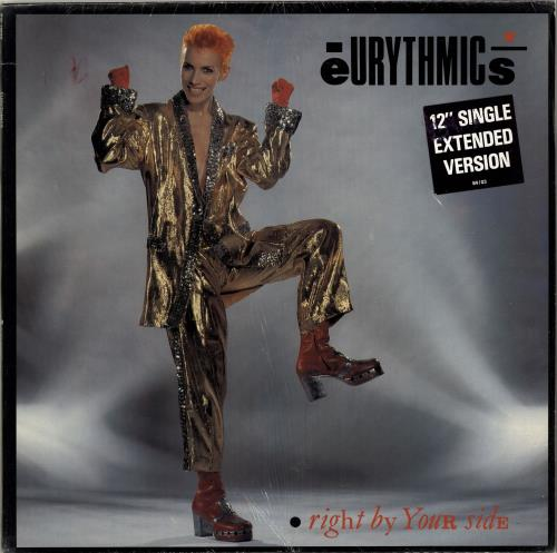 """Eurythmics Right By Your Side + Stickered Shrinkwrap 12"""" vinyl single (12 inch record / Maxi-single) Canadian EUR12RI704735"""