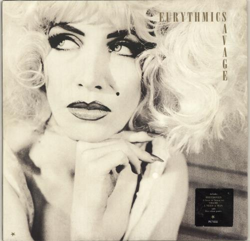 Eurythmics Savage vinyl LP album (LP record) German EURLPSA298812