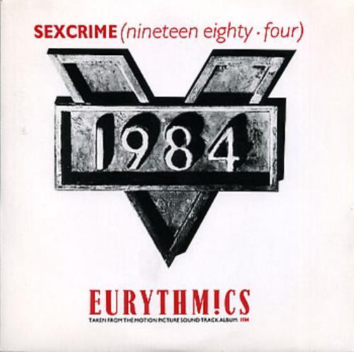 "Eurythmics Sexcrime 7"" vinyl single (7 inch record) UK EUR07SE111364"