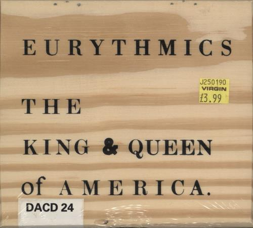 """Eurythmics The King & Queen Of America - Sealed Wooden Box CD single (CD5 / 5"""") UK EURC5TH773353"""