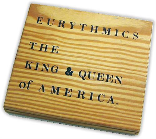 "Eurythmics The King & Queen Of America - Wooden Box CD single (CD5 / 5"") UK EURC5TH09043"