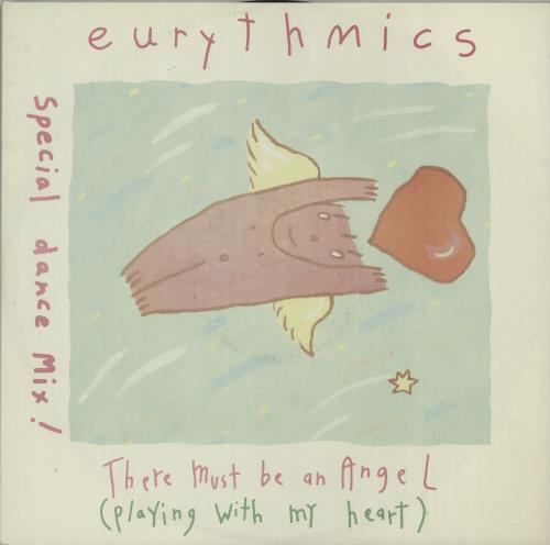 "Eurythmics There Must Be An Angel (Playing With My Heart) 12"" vinyl single (12 inch record / Maxi-single) UK EUR12TH26082"
