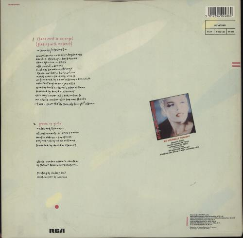 """Eurythmics There Must Be An Angel - EX 12"""" vinyl single (12 inch record / Maxi-single) UK EUR12TH759136"""
