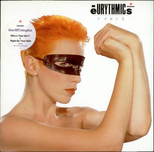 Eurythmics Touch - Hype Stickered vinyl LP album (LP record) UK EURLPTO190461