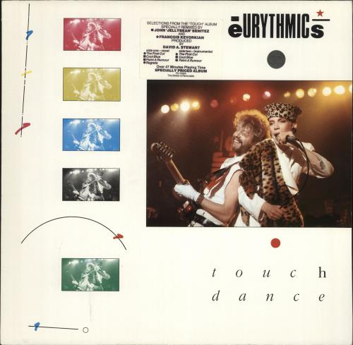 Eurythmics Touch Dance - Stickered Sleeve vinyl LP album (LP record) UK EURLPTO704184