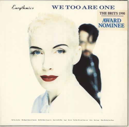 Eurythmics We Too Are One - Stickered Sleeve vinyl LP album (LP record) German EURLPWE714528