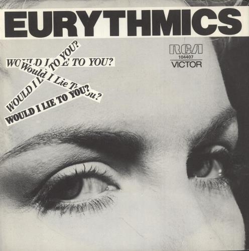 "Eurythmics Would I Lie To You + Sleeve 7"" vinyl single (7 inch record) Australian EUR07WO53993"