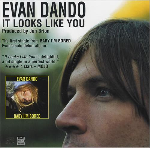 Evan Dando It Looks Like You CD-R acetate US EVOCRIT247817