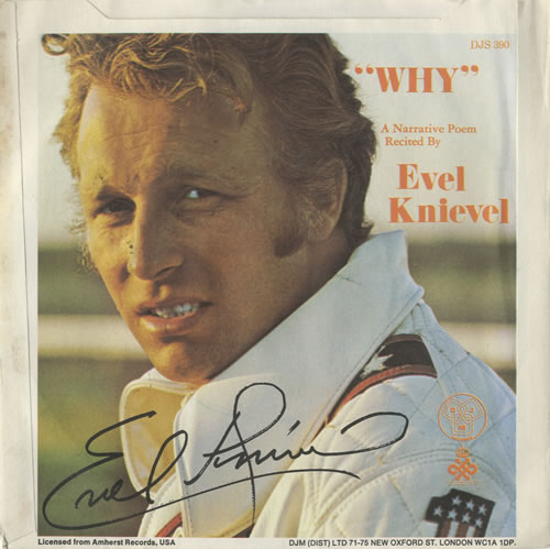 """Evel Knievel Why - P/S 7"""" vinyl single (7 inch record) UK KN407WH483844"""