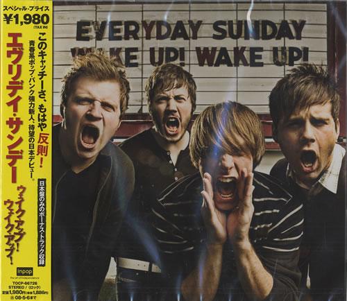 Everyday Sunday Wake Up! Wake Up! CD album (CDLP) Japanese ED9CDWA446549