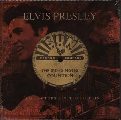 "Elvis Presley The Sun Singles Collection - Red vinyl 7"" box set UK ELV7XTH584351"