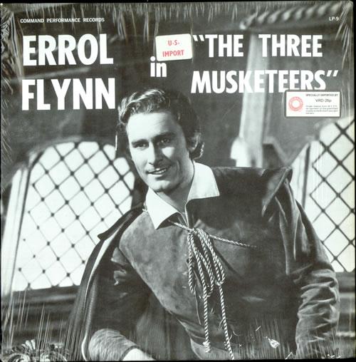 Errol Flynn The Three Musketeers vinyl LP album (LP record) US EF-LPTH503042