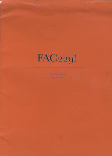 Factory FAC229! magazine UK FCYMAFA221003