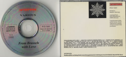 Factory From Brussels With Love CD album (CDLP) German FCYCDFR141848