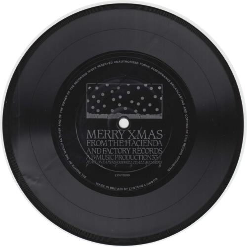 "Factory Merry Xmas From The Hacienda 7"" vinyl single (7 inch record) UK FCY07ME34629"