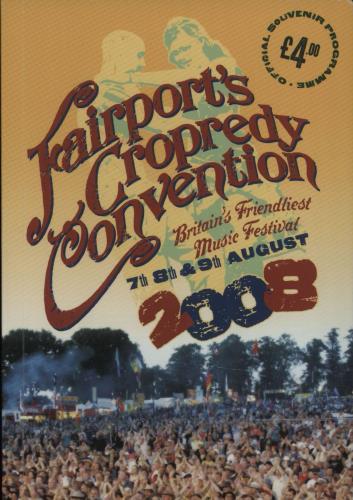 Fairport Convention Cropredy Festival 2008 + Ticket Stubs & Wristband tour programme UK F-CTRCR663354