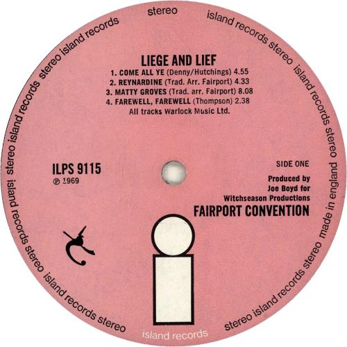 Fairport Convention Liege & Lief - 1st - EX vinyl LP album (LP record) UK F-CLPLI129585