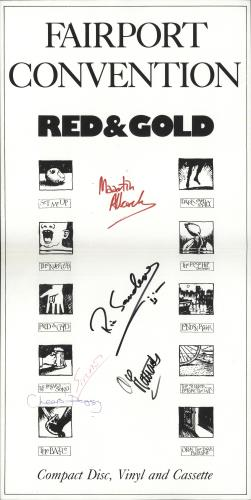 Fairport Convention Red & Gold - Autographed poster UK F-CPORE717895