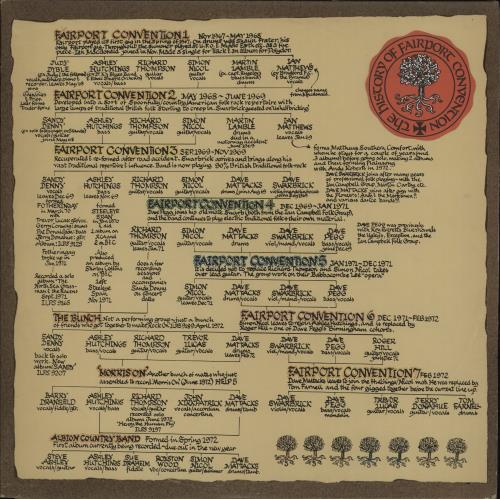 Fairport Convention The History Of - No Ribbon 2-LP vinyl record set (Double Album) UK F-C2LTH660772