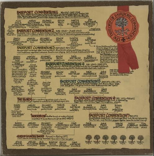 Fairport Convention The History Of - Red - VG 2-LP vinyl record set (Double Album) UK F-C2LTH554119