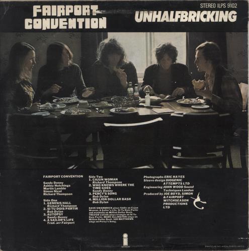 Fairport Convention Unhalfbricking - Sunrise Label vinyl LP album (LP record) UK F-CLPUN767957