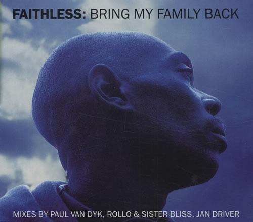Faithless Bring My Family Back 2-CD single set (Double CD single) UK FTL2SBR211741
