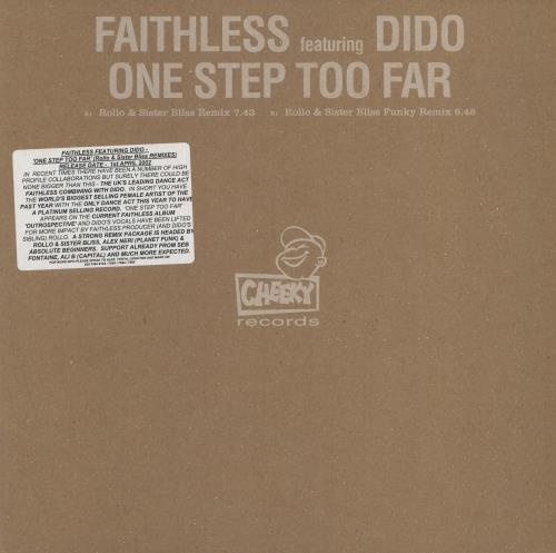 "Faithless One Step Too Far 12"" vinyl single (12 inch record / Maxi-single) UK FTL12ON209077"