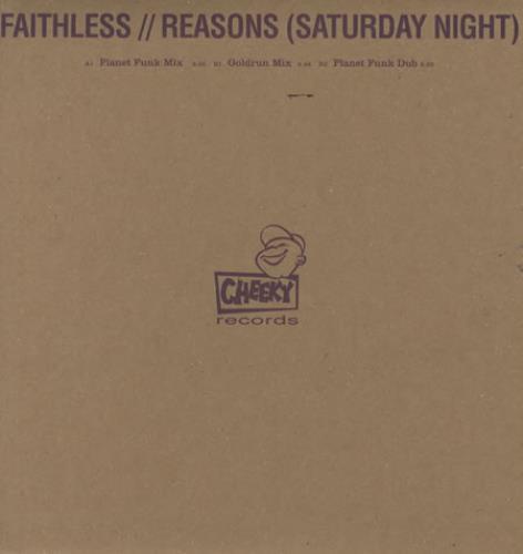 "Faithless Reasons [Saturday Night] 12"" vinyl single (12 inch record / Maxi-single) UK FTL12RE344333"