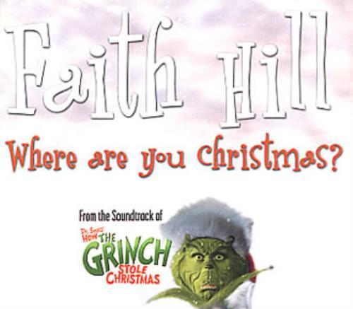 Where Are You Christmas.Faith Hill Where Are You Christmas Uk Promo Cd Single Cd5 5