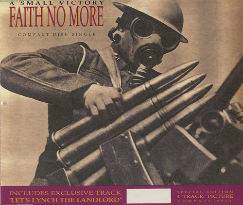 """Faith No More A Small Victory - Picture CD single (CD5 / 5"""") UK FNMC5AS08715"""