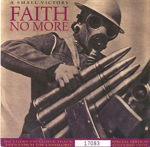 "Faith No More A Small Victory - Yellow Vinyl 7"" vinyl single (7 inch record) UK FNM07AS08558"