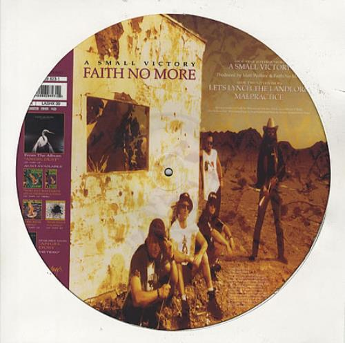 "Faith No More A Small Victory 12"" vinyl picture disc 12inch picture disc record UK FNM2PAS102593"