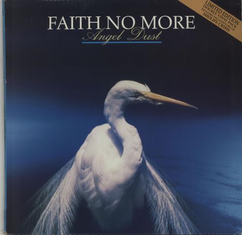 "Faith No More Angel Dust + Bonus 12"" single 2-LP vinyl record set (Double Album) UK FNM2LAN666651"