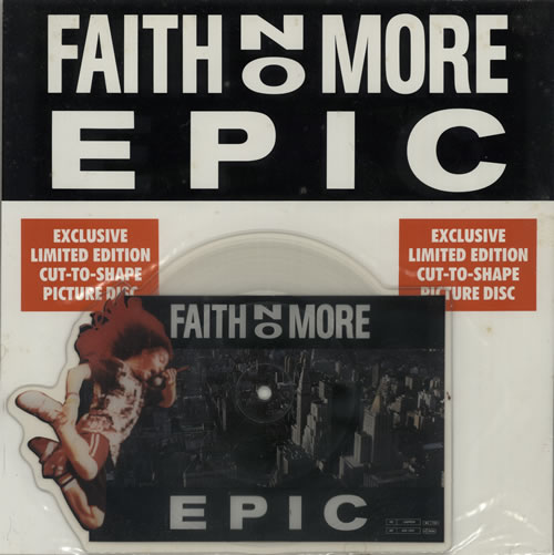 Faith No More Epic shaped picture disc (picture disc vinyl record) UK FNMSHEP00639