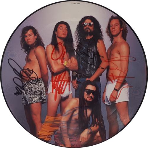 """Faith No More From Out Of Nowhere - Autographed 12"""" vinyl picture disc 12inch picture disc record UK FNM2PFR654659"""
