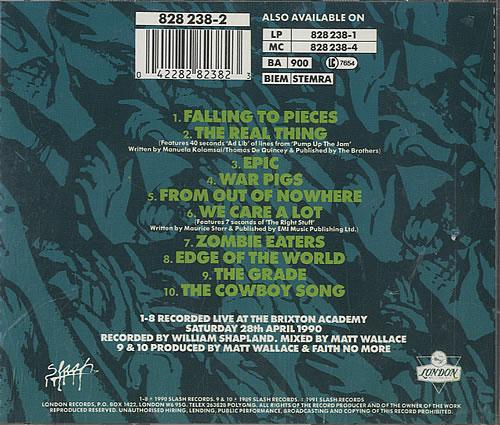 Faith No More Live At The Brixton Academy CD album (CDLP) UK FNMCDLI468231