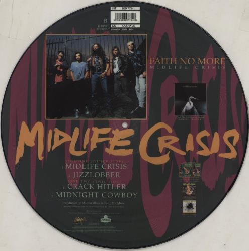 """Faith No More Midlife Crisis 12"""" vinyl picture disc 12inch picture disc record UK FNM2PMI16530"""