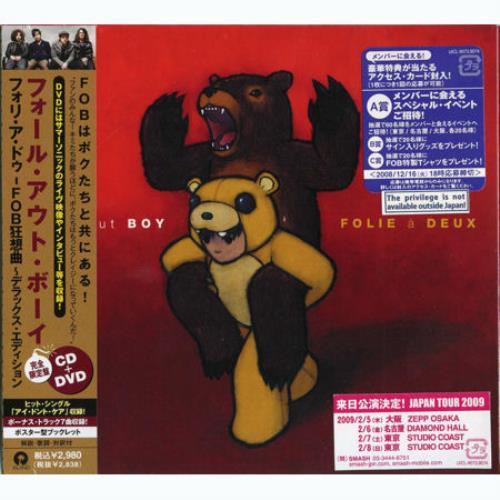 Fall Out Boy Folie A Deux 2-disc CD/DVD set Japanese FOL2DFO448347